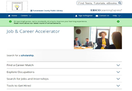 job and career accelerator screenshot